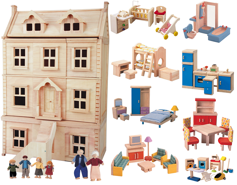 Plan+Toys+Wooden+Dollhouse wooden doll house plans plan toys doll ...