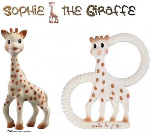 Sophie The Giraffe natural teethers