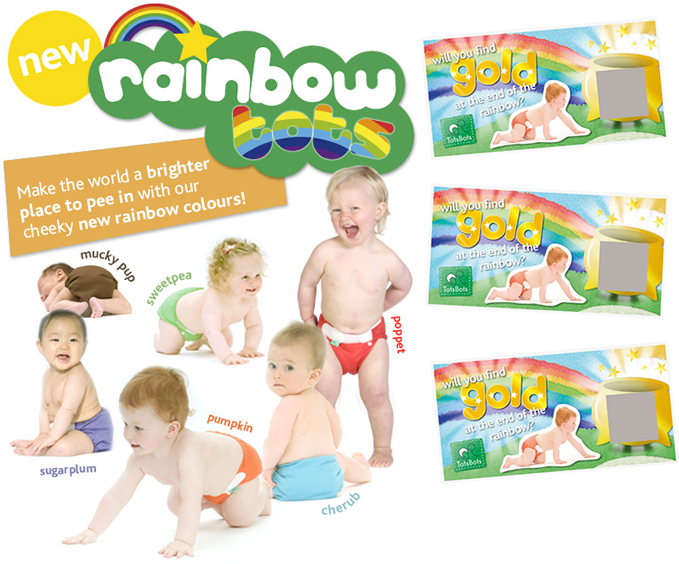 Rainbow tots ticket promotion