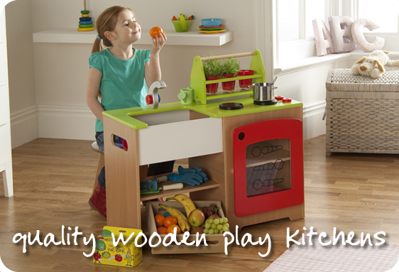 Wooden play kitchens