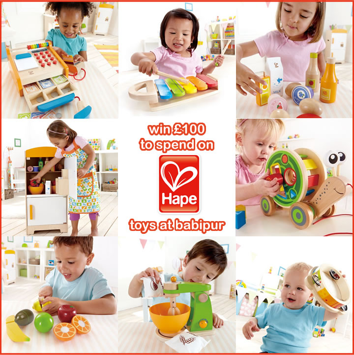 hape comp Win £100 to spend on HAPE toys at Babi Pur!