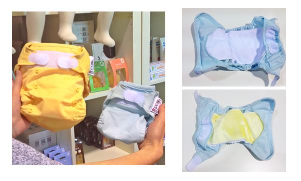 Pop-in newborn nappy