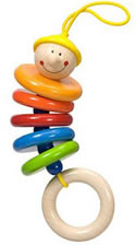 dangling max t Wooden Clutching Toys for Babies