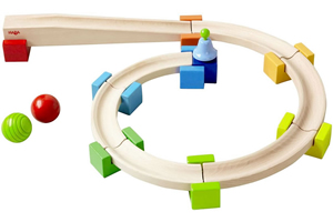 basic track starter Haba My First Ball Track   Wooden Marble Runs