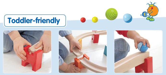 toddler friendly Haba My First Ball Track   Wooden Marble Runs