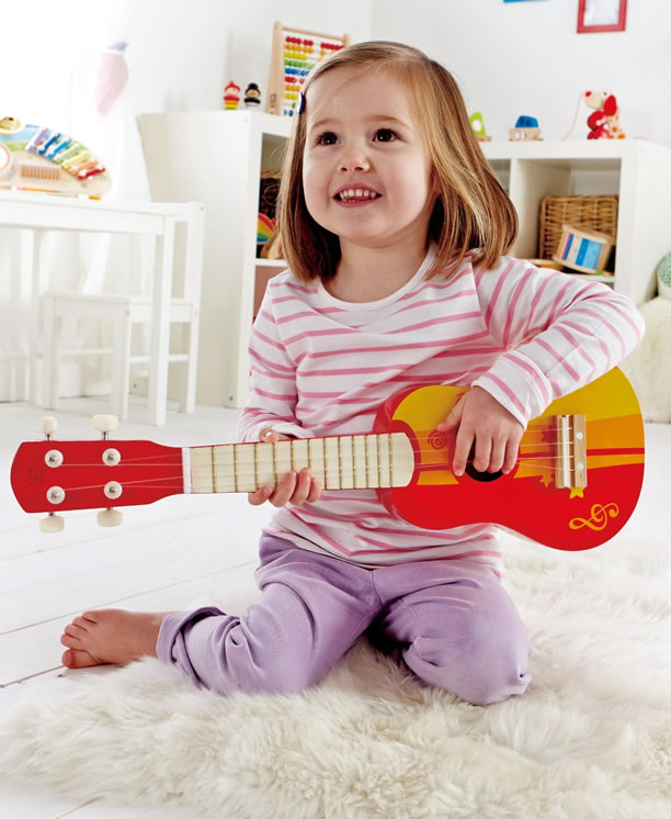 Hape red guitar Musical Instruments for Children