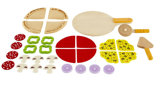 hape pizza Wooden Play Food
