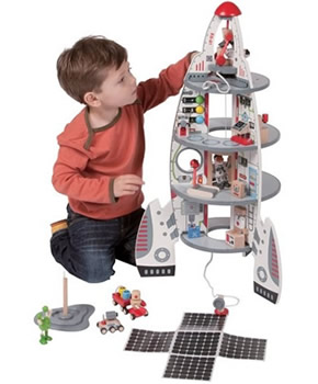 hape spaceship and lift off rocket