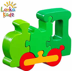 lanka kade green train jigsaw t