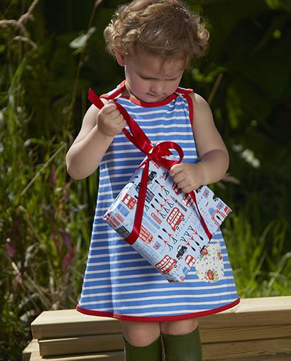 bretton stripe Piccalilly reversible baby dresses are here!
