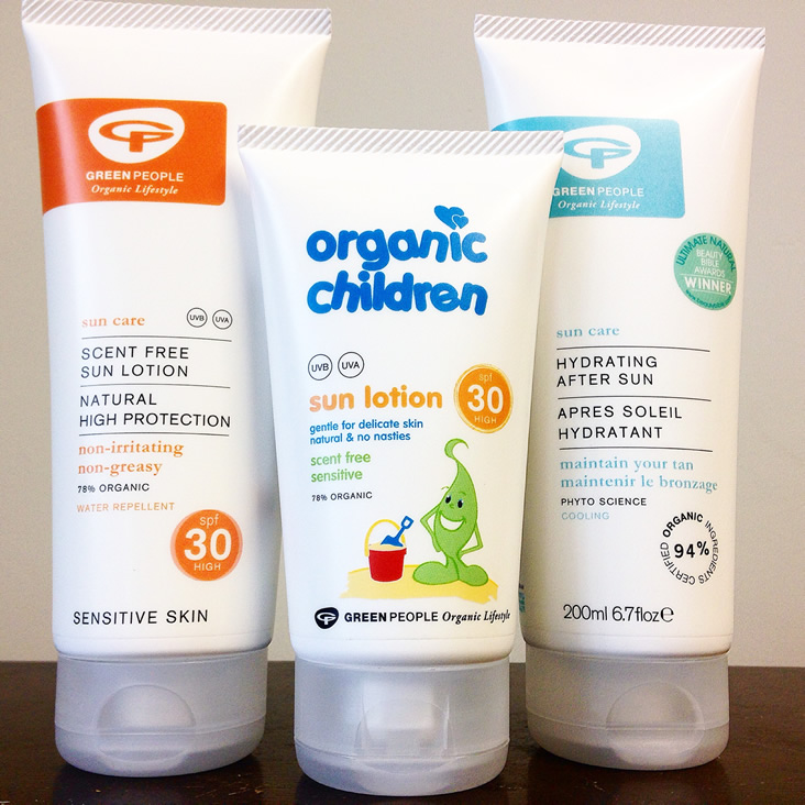 Green People Organic Sun Lotion Trio