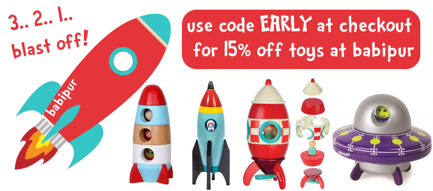 Save 15% on Wooden toys this Christmas with Babi Pur