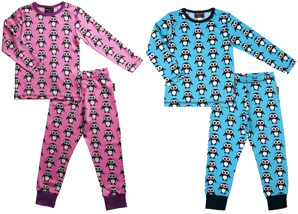maxomorra-pyjamas-pink-blue-penguins