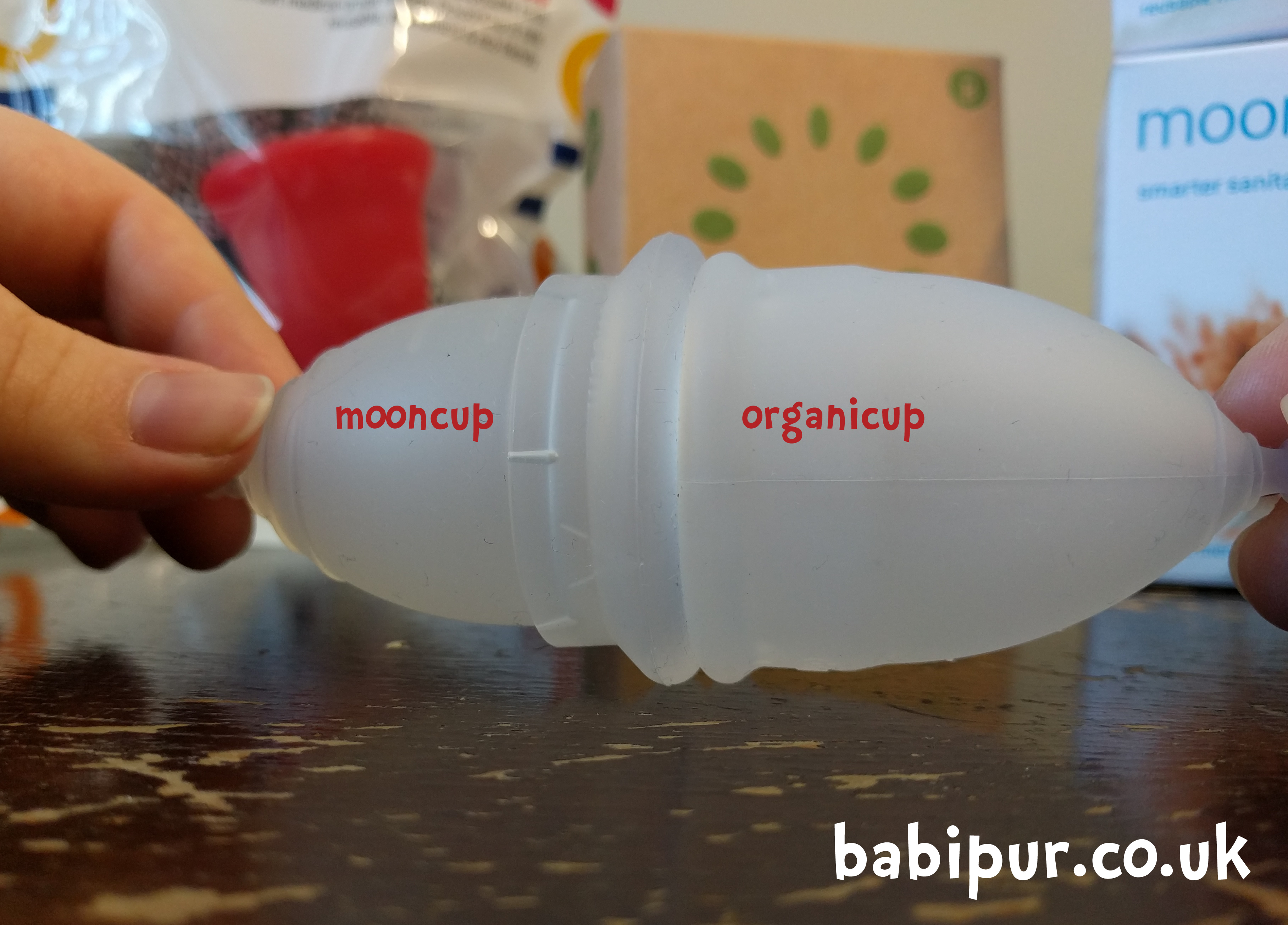 Menstrual cups Mooncup Organicup