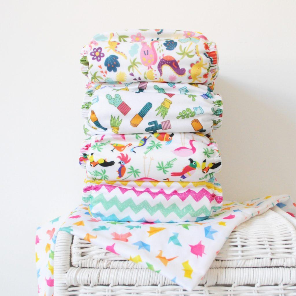Real nappy week Reusable nappies cloth nappies stack