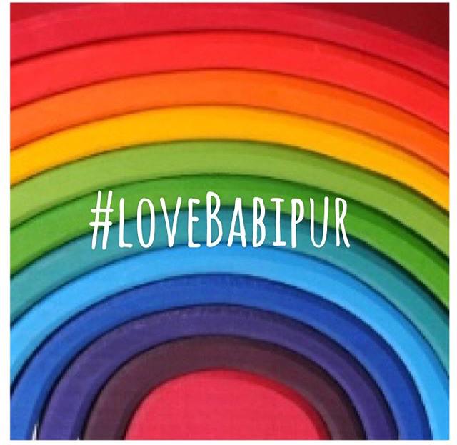 #lovebabipur rainbow