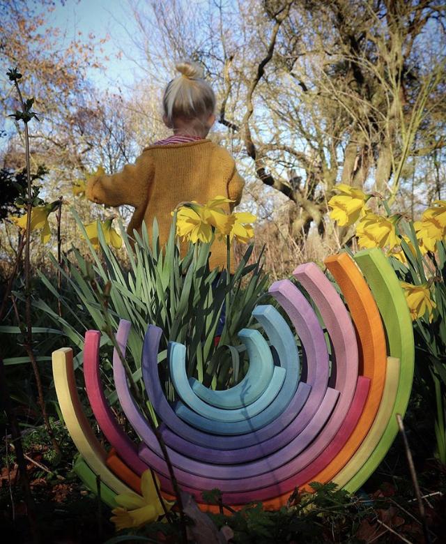 Large pastel rainbow