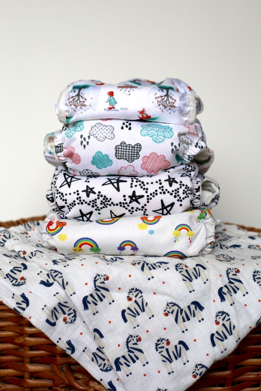 Cloth nappy stack