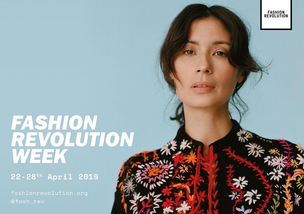 Fashion Revolution Week Poster with Jasmine Helmsley
