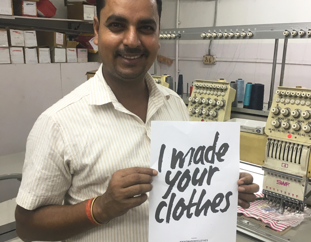 Piccalilly garment worker in India