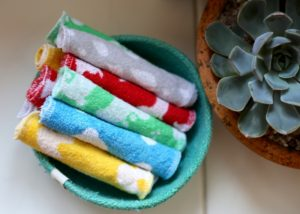 Plastic free reusable wipes