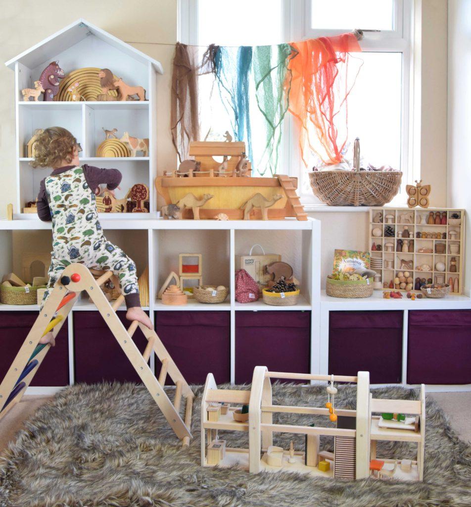 mixed montessori wooden toys