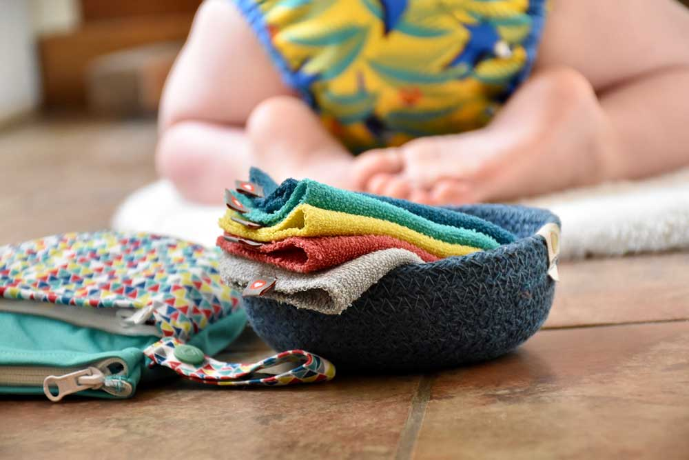 Reusable wipes are a great switch to make during Reusable Nappy Week