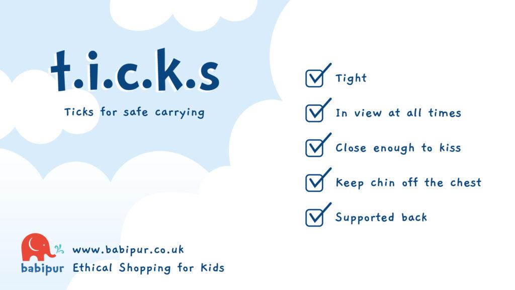 T.I.C.K.S babywearing safety checklist