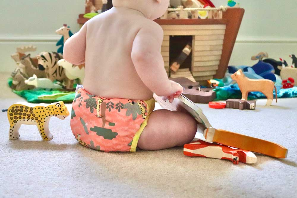 Close Pop-in reusable nappy - a favourite with Babipur customers!