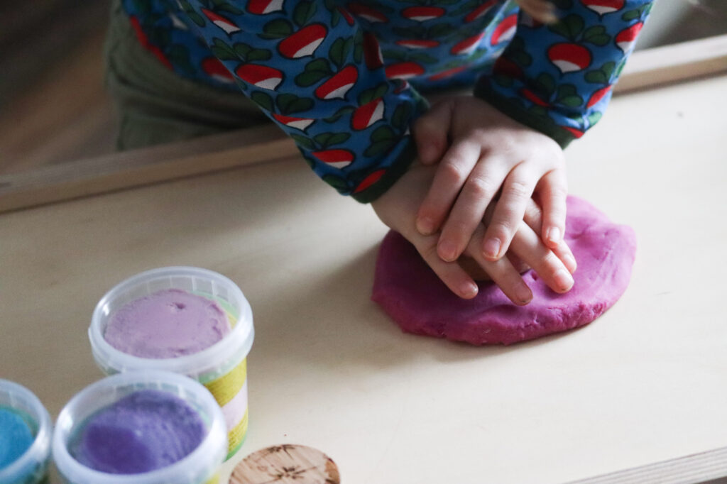 OkoNorm Play Dough is a wonderful resource for the Montessori workspace
