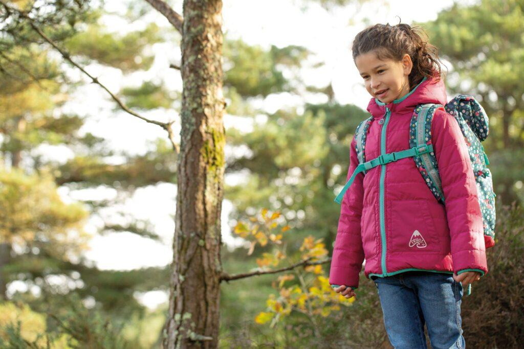 Reversible Toasty Trail jacket by Frugi