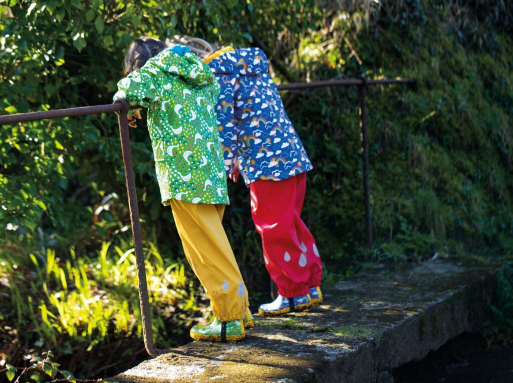 Frugi Puddle Buster warm and waterproof coats for kids and a real favourite with Babipurians