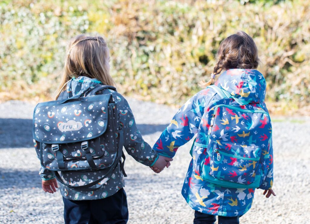 Frugi sachel and backpacks are perfect for going back to school