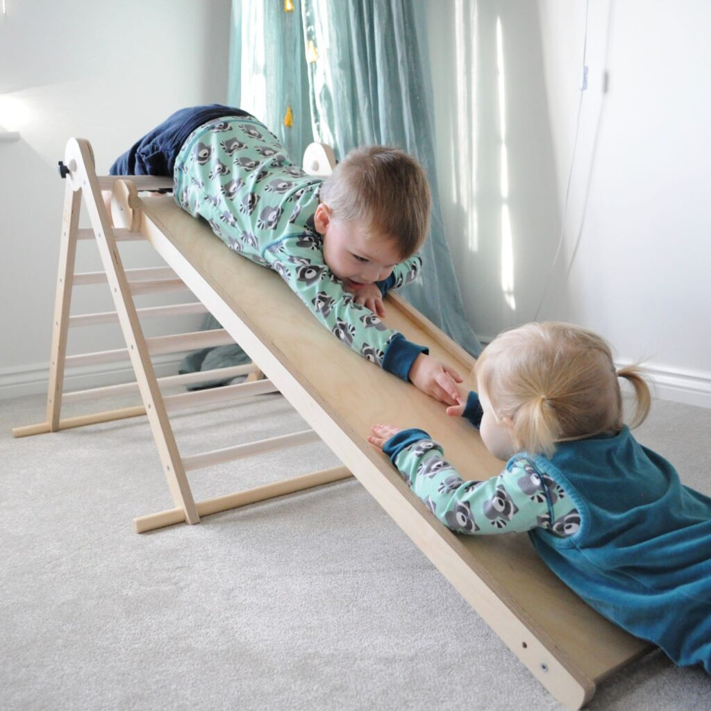 Its improtant to give children space and time to develop their climbing skills at their own pace