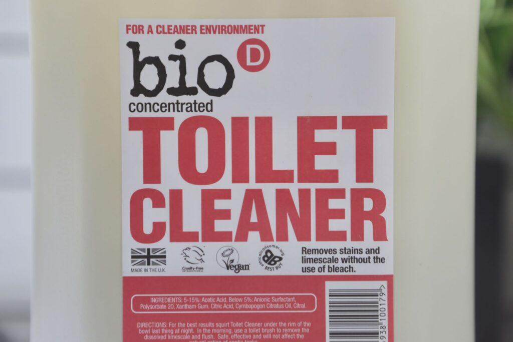 Bio-D Toilet cleaner label