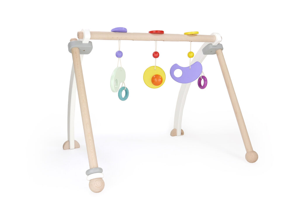 Bajo Baby Gym a contemporary wooden baby gym. Baby Gift Ideas 0-6 Months