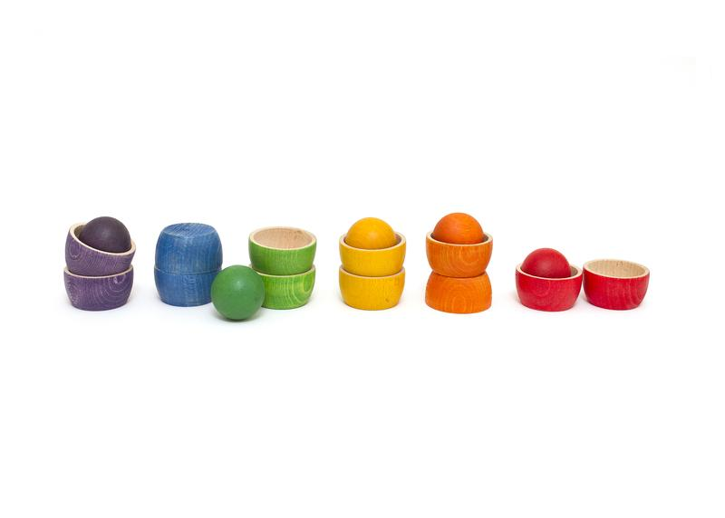 Grapat Bowls & Balls Set wooden toys. Best gifts for babies